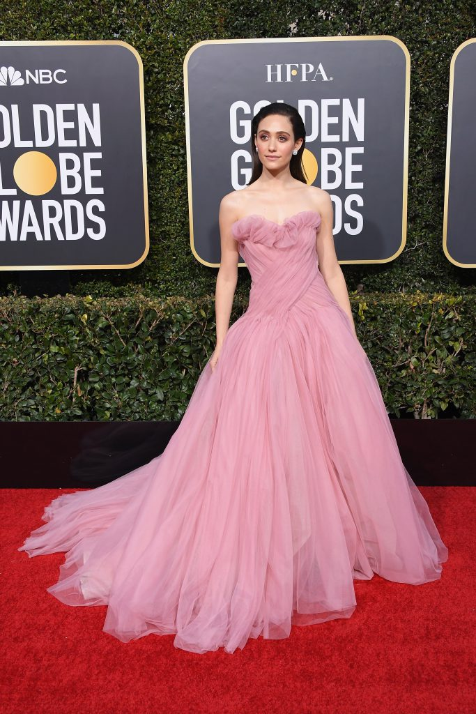 Emmy Rossum în Monique Lhuillier