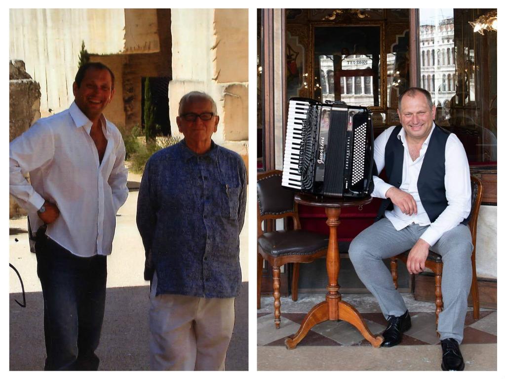 Radu Zaplitnîi, celebrul acordeonist moldovean stabilit la Veneția: ce lecții prețioase de viață a învățat de la Pierre Cardin