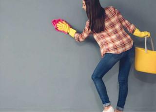 Trucuri pentru curățarea eficientă a pereților dați cu vopsea lavabilă